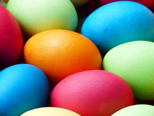 vajíčka na velikonoce