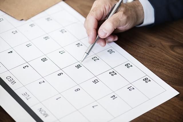 plánování v kalendáři