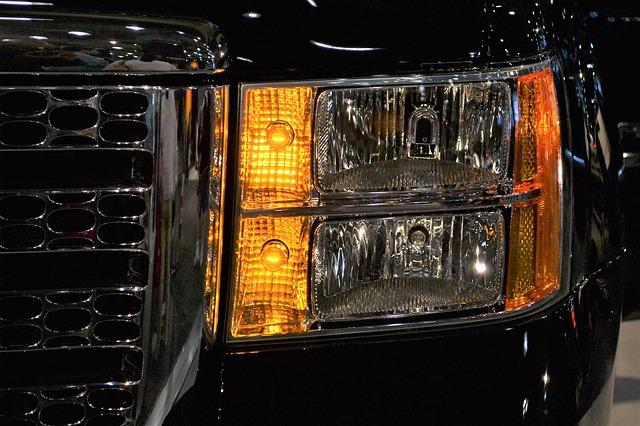 reflektor na vozidle