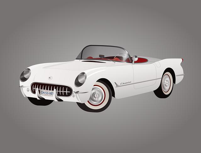 bílá corvette