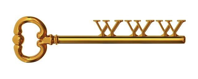 klíč k www