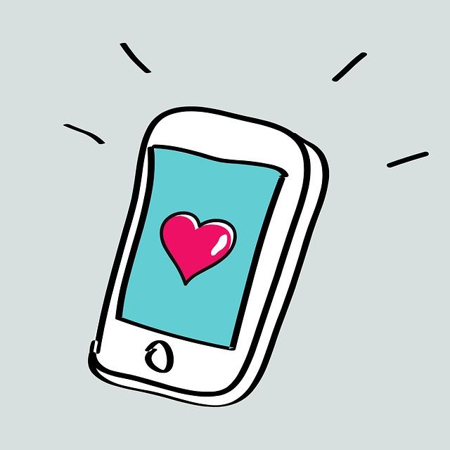 srdce v mobilu