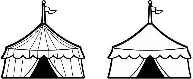 cirkusové stany