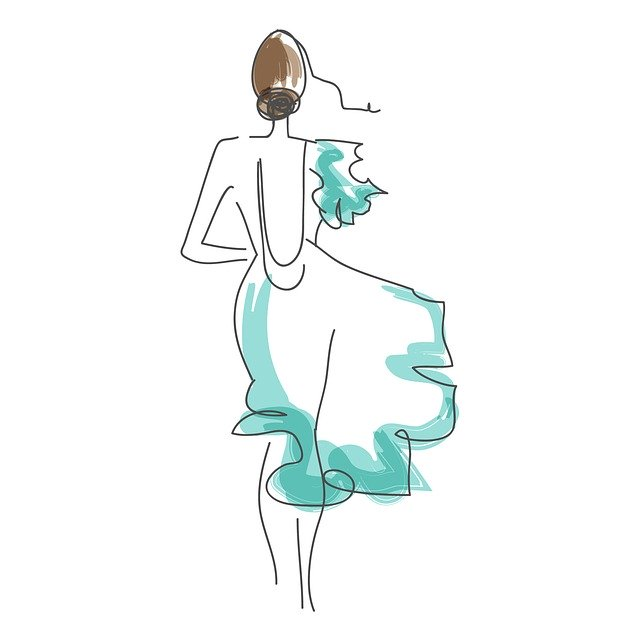 Návrh šatů-skica
